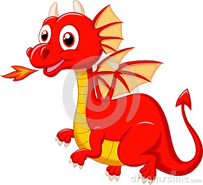 cute-red-dragon-cartoon-illustration-39147872